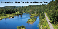 Laurentians – Petit Train du Nord<br /> Bicycle Tour